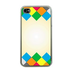 Plaid Wave Chevron Rainbow Color Apple Iphone 4 Case (clear) by Mariart
