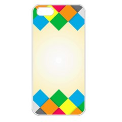 Plaid Wave Chevron Rainbow Color Apple Iphone 5 Seamless Case (white) by Mariart