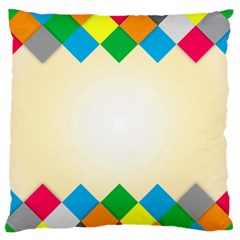 Plaid Wave Chevron Rainbow Color Standard Flano Cushion Case (two Sides) by Mariart