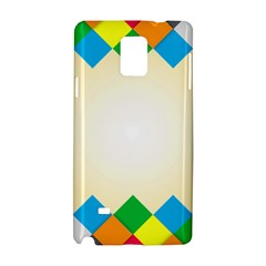 Plaid Wave Chevron Rainbow Color Samsung Galaxy Note 4 Hardshell Case by Mariart
