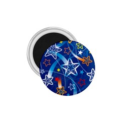 Line Star Space Blue Sky Light Rainbow Red Orange White Yellow 1 75  Magnets by Mariart