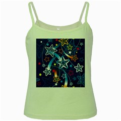 Line Star Space Blue Sky Light Rainbow Red Orange White Yellow Green Spaghetti Tank by Mariart