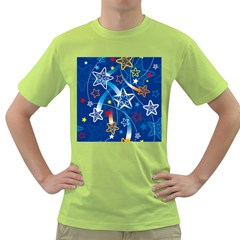 Line Star Space Blue Sky Light Rainbow Red Orange White Yellow Green T Shirt by Mariart