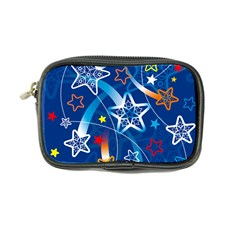 Line Star Space Blue Sky Light Rainbow Red Orange White Yellow Coin Purse by Mariart