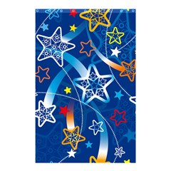 Line Star Space Blue Sky Light Rainbow Red Orange White Yellow Shower Curtain 48  X 72  (small)  by Mariart