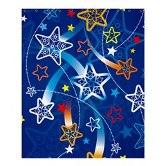 Line Star Space Blue Sky Light Rainbow Red Orange White Yellow Shower Curtain 60  X 72  (medium)  by Mariart