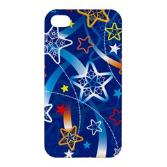 Line Star Space Blue Sky Light Rainbow Red Orange White Yellow Apple Iphone 4/4s Hardshell Case by Mariart