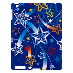 Line Star Space Blue Sky Light Rainbow Red Orange White Yellow Apple Ipad 3/4 Hardshell Case by Mariart