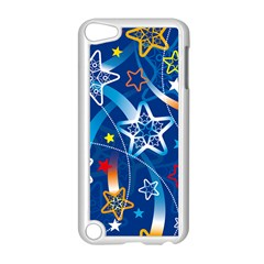 Line Star Space Blue Sky Light Rainbow Red Orange White Yellow Apple Ipod Touch 5 Case (white) by Mariart