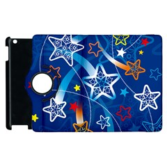 Line Star Space Blue Sky Light Rainbow Red Orange White Yellow Apple Ipad 3/4 Flip 360 Case by Mariart