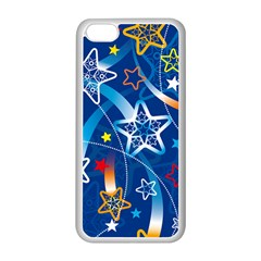 Line Star Space Blue Sky Light Rainbow Red Orange White Yellow Apple Iphone 5c Seamless Case (white) by Mariart