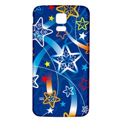 Line Star Space Blue Sky Light Rainbow Red Orange White Yellow Samsung Galaxy S5 Back Case (white) by Mariart