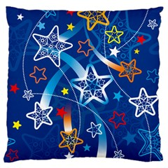 Line Star Space Blue Sky Light Rainbow Red Orange White Yellow Standard Flano Cushion Case (one Side) by Mariart