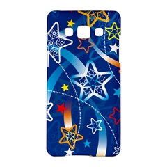 Line Star Space Blue Sky Light Rainbow Red Orange White Yellow Samsung Galaxy A5 Hardshell Case  by Mariart