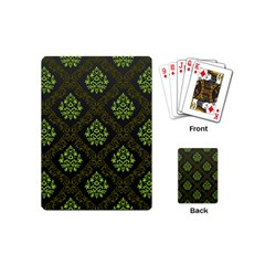 Leaf Green Playing Cards (mini)  by Mariart