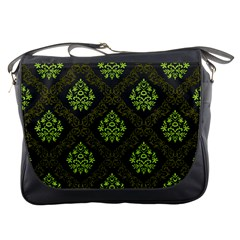 Leaf Green Messenger Bags by Mariart