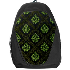 Leaf Green Backpack Bag by Mariart