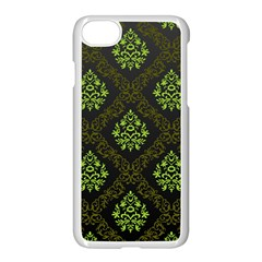 Leaf Green Apple Iphone 7 Seamless Case (white) by Mariart