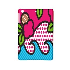 Rose Floral Circle Line Polka Dot Leaf Pink Blue Green Ipad Mini 2 Hardshell Cases by Mariart