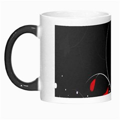 Star Red Flower Floral Black Leaf Polka Circle Morph Mugs by Mariart