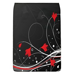 Star Red Flower Floral Black Leaf Polka Circle Flap Covers (l)  by Mariart
