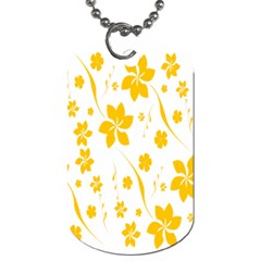 Shamrock Yellow Star Flower Floral Star Dog Tag (two Sides) by Mariart