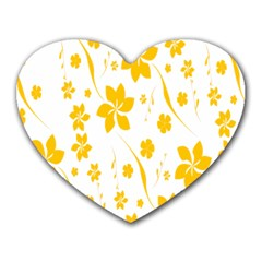 Shamrock Yellow Star Flower Floral Star Heart Mousepads by Mariart