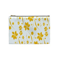 Shamrock Yellow Star Flower Floral Star Cosmetic Bag (medium)  by Mariart