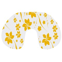 Shamrock Yellow Star Flower Floral Star Travel Neck Pillows by Mariart