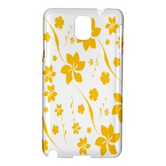 Shamrock Yellow Star Flower Floral Star Samsung Galaxy Note 3 N9005 Hardshell Case by Mariart