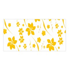 Shamrock Yellow Star Flower Floral Star Satin Shawl by Mariart