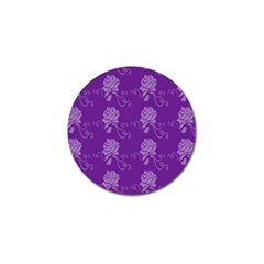 Purple Flower Rose Sunflower Golf Ball Marker by Mariart