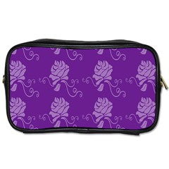 Purple Flower Rose Sunflower Toiletries Bags 2 Side by Mariart