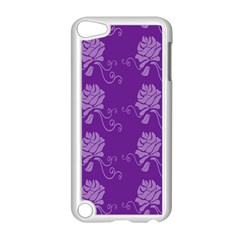 Purple Flower Rose Sunflower Apple Ipod Touch 5 Case (white) by Mariart