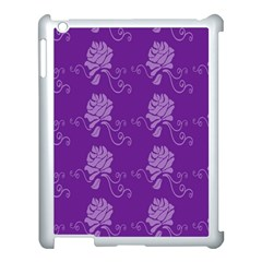 Purple Flower Rose Sunflower Apple Ipad 3/4 Case (white) by Mariart