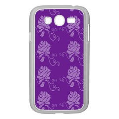 Purple Flower Rose Sunflower Samsung Galaxy Grand Duos I9082 Case (white) by Mariart
