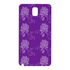 Purple Flower Rose Sunflower Samsung Galaxy Note 3 N9005 Hardshell Back Case by Mariart