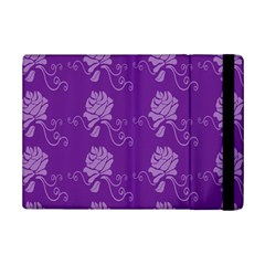 Purple Flower Rose Sunflower Ipad Mini 2 Flip Cases by Mariart