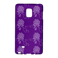 Purple Flower Rose Sunflower Galaxy Note Edge by Mariart