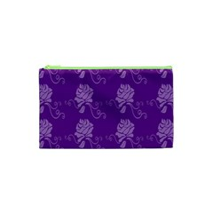 Purple Flower Rose Sunflower Cosmetic Bag (xs) by Mariart