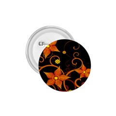 Star Leaf Orange Gold Red Black Flower Floral 1 75  Buttons by Mariart