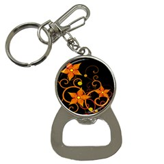 Star Leaf Orange Gold Red Black Flower Floral Button Necklaces by Mariart