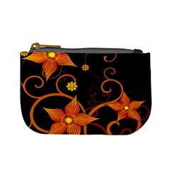 Star Leaf Orange Gold Red Black Flower Floral Mini Coin Purses by Mariart