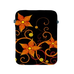 Star Leaf Orange Gold Red Black Flower Floral Apple Ipad 2/3/4 Protective Soft Cases by Mariart
