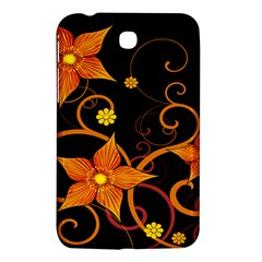 Star Leaf Orange Gold Red Black Flower Floral Samsung Galaxy Tab 3 (7 ) P3200 Hardshell Case  by Mariart