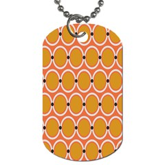 Orange Circle Polka Dog Tag (two Sides) by Mariart