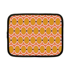 Orange Circle Polka Netbook Case (small)  by Mariart