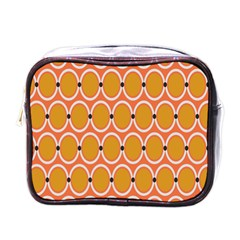 Orange Circle Polka Mini Toiletries Bags