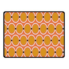 Orange Circle Polka Fleece Blanket (small) by Mariart