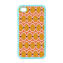 Orange Circle Polka Apple Iphone 4 Case (color) by Mariart